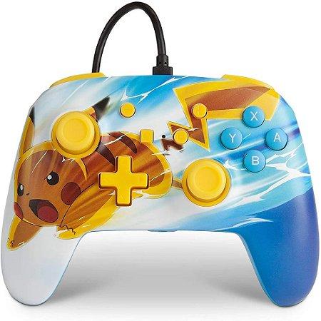 Controle Nintendo Switch Com Fio Pikachu Charge PowerA