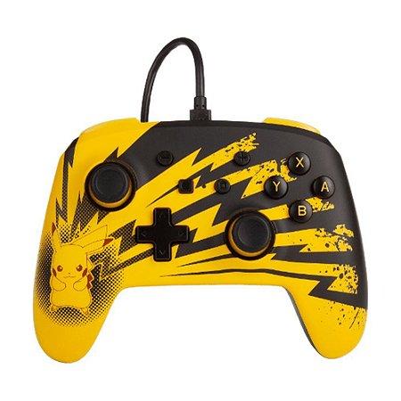 Controle Nintendo Switch Com Fio Pikachu Lightning PowerA