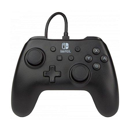 Controle Nintendo Switch Com Fio Preto PowerA