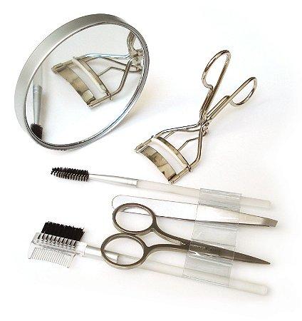 Kit Maquiagem para os Olhos com Espelho de Aumento - Basicare