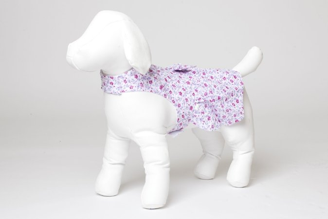 Roupinha para Cachorro Petisco - Vestido Asa Delta Florido