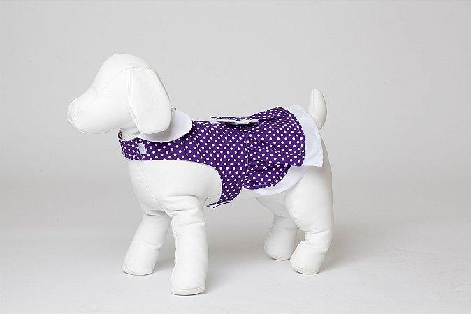 Roupinha para Cachorro Petisco - Vestidinho Asa Delta Roxo