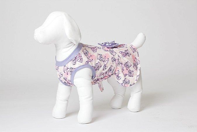 Roupinha para Cachorro Petisco - Vestidinho Fechado Malha