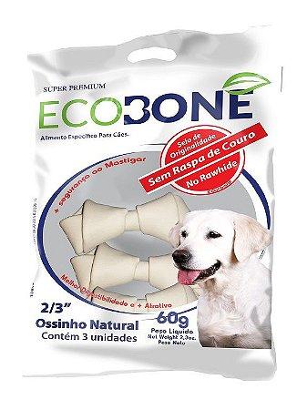 Ossinho Para Cachorro Integral 100% Vegetal Nó 2/3 - Pacote com 3 Unidades