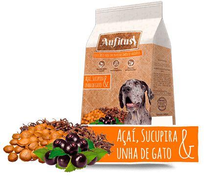 Biscoito Aufitus para Cães Idosos Sabor Açaí, Sucupira e Unha de Gato - 200 gr