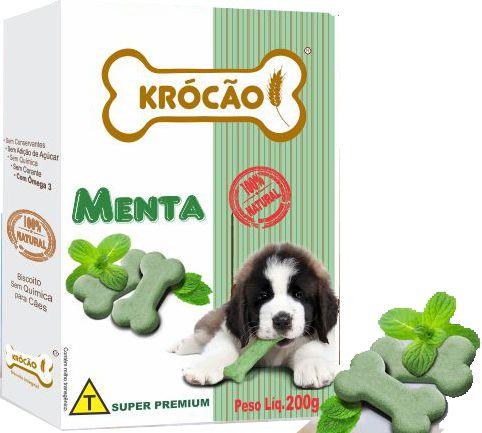 Krocão Biscoito Sabor Menta 200gr