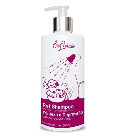 Shampoo para Pet Bio Florais Tristeza e Depressão - 500 ml
