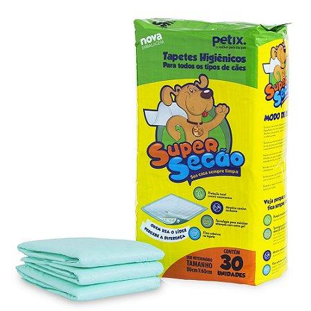 Tapete Higiênico Para Cachorro Super Secão c/ 30 Unidades