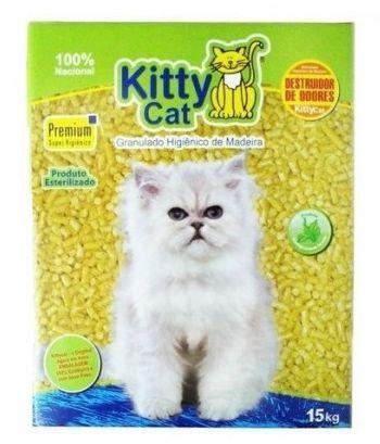 Granulado de Madeira Kitty Cat 1,5KG (Econômico)