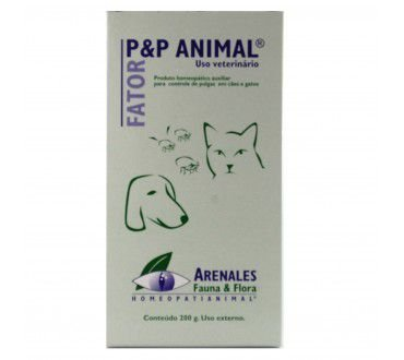 Fator P&P Animal Talco - Arenales Homeopatia Animal - Talco AntiPulgas