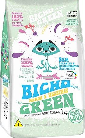 Bicho Green - Alimento 100% Vegetal Vegano para Gatos Adultos 1KG