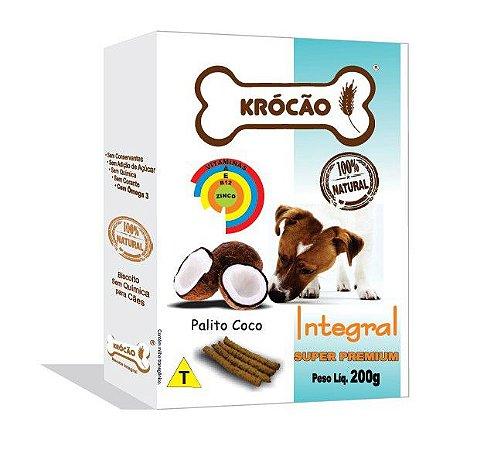 Krocão Biscoito Integral Palito de Coco 200g