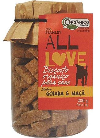 ALL LOVE - BISCOITO ORGÂNICO PARA CÃES GOIABA & MAÇÃ - 200G