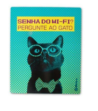 Placa Decorativa - Senha do Wifi - CatMyPet