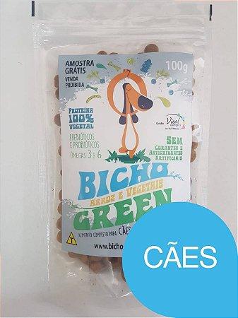 Amostra grátis ração vegana bicho green 100g cães - Somente um por pedido
