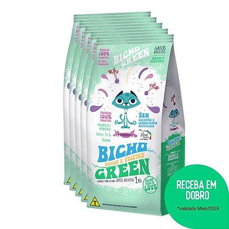 Promoção Bicho Green em DOBRO - Alimento Completo Conservado Naturalmente para Gatos Adultos 5KG