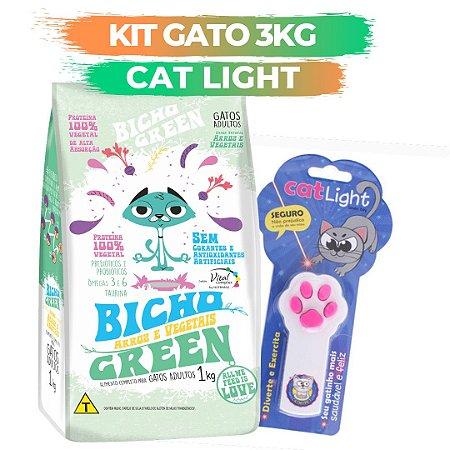 KIT BICHO GREEN GATO 3KG + CAT LIGHT