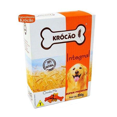 Krocão Biscoito Integral Ossinho Mix 200 gr