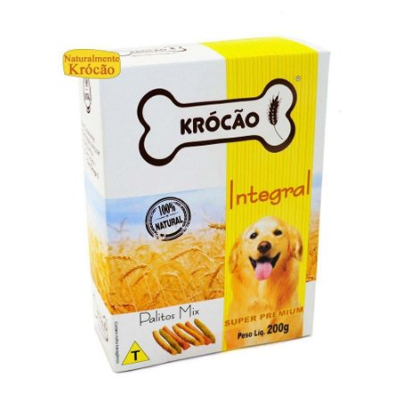 Krocão Biscoito Integral Palito Mix 200 gr