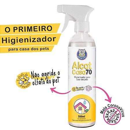 Higienizador Antisséptico para Casa de Cães e Gatos - Alcat Casa 70 - 500ml