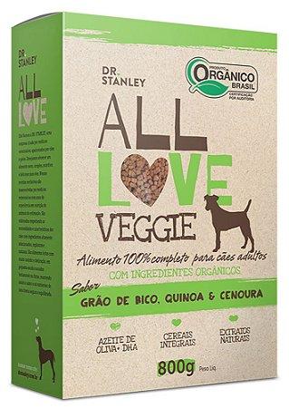 (ORGÂNICA) - ALL LOVE VEGGIE SABOR GRÃO DE BICO, QUINOA & CENOURA 800g
