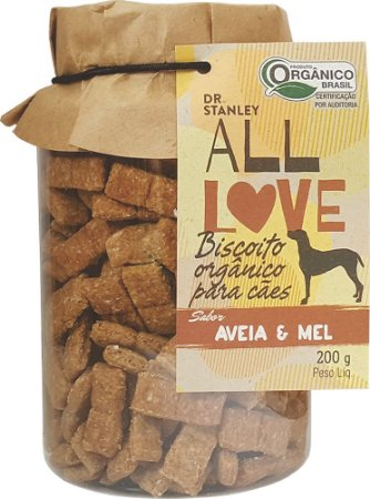 ALL LOVE - Biscoito Orgânico para Cães Aveia e Mel - 200g