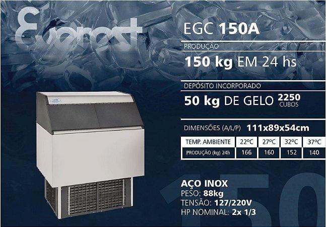 MÁQUINA DE GELO  EVEREST EGC 150A