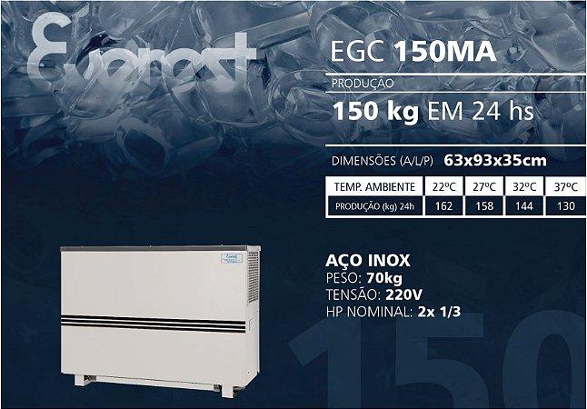 MÁQUINA DE GELO EVEREST EGC 150MA (220V)