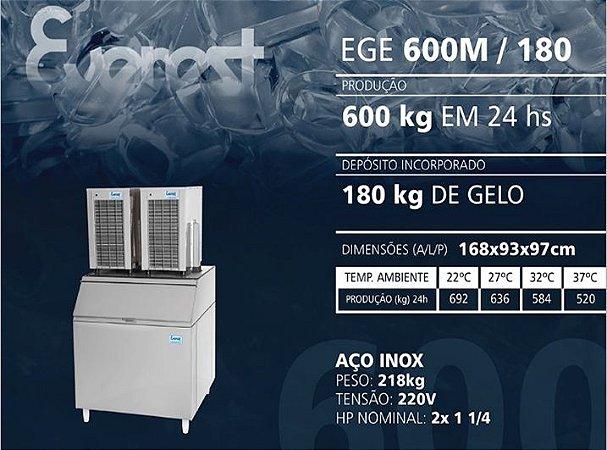 MÁQUINA DE GELO EGE 600M/180 (220V)