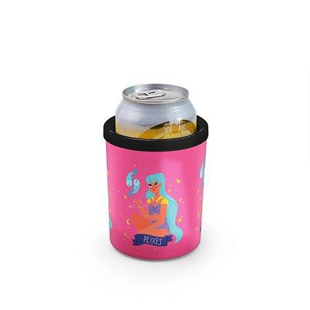 Porta Latas 350ml SIGNOS (rosa) - Peixes