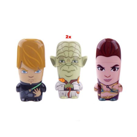 Kit Pen Drives MIMOCO Star Wars Luke, 2x Yoda e Leia - 8gb