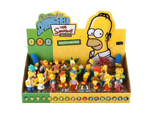 Display Bonecos Simpsons Top Collection 24 Peças