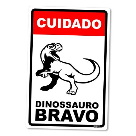 Placa Decorativa 24x16 - DINOSSAURO