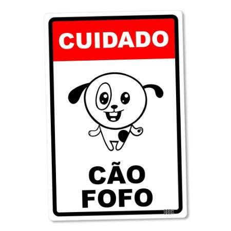 Placa Decorativa 24x16 Cão Fofo - Beek