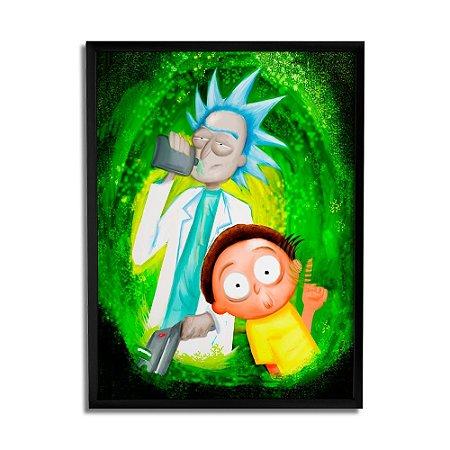 Quadro Decorativo Rick And Morty By Júlio Magah - Beek