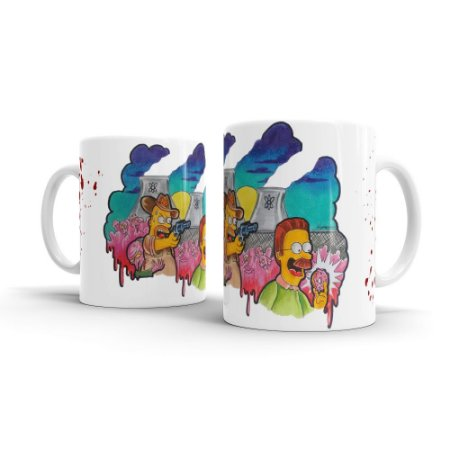 Caneca Personalizada Cerâmica THE WALKING SIMPSONS By Homero Ribeiro - Beek