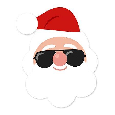 Placa Decorativa 22x17 Papai Noel Óculos - Beek