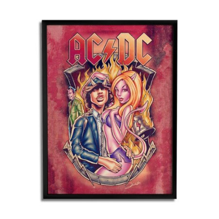 Quadro Decorativo AC/DC By Renato Cunha - Beek
