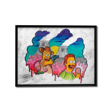 Quadro Decorativo The Walking Simpsons By Homero Ribeiro - Beek