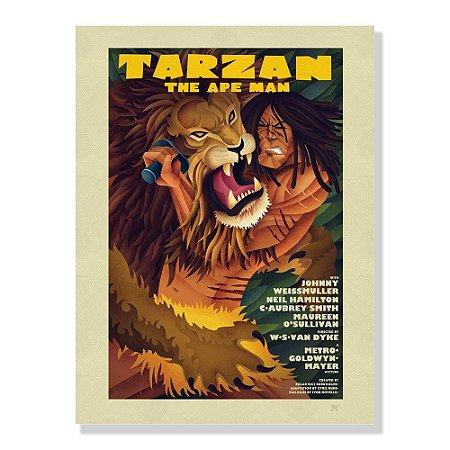 Quadro Tela 60x42cm Tarzan By Amaury Filho - Beek