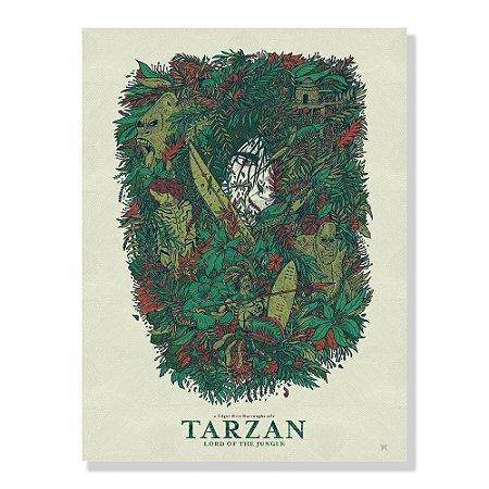 Quadro Tela 60x42cm Tarzan Lord By Amaury Filho - Beek