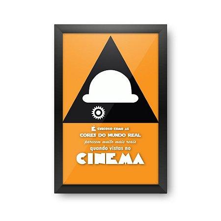 Quadro Porta Ingressos de Cinema - LARANJA