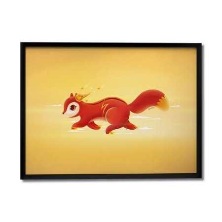 Quadro Decorativo Esquilo Flash By Fe Sponchi - Beek