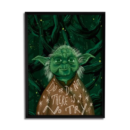 Quadro Decorativo Yoda By Carol Rempto - Beek