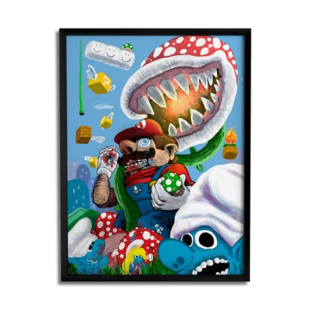 Quadro Decorativo Crazy Mario By Samuel Sajo - Beek