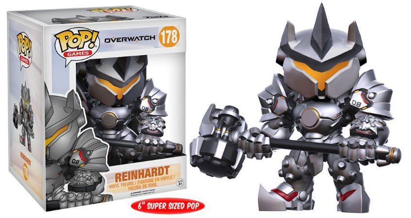 Estatueta Funko Pop! Games Overwatch - Reinhardt 6""