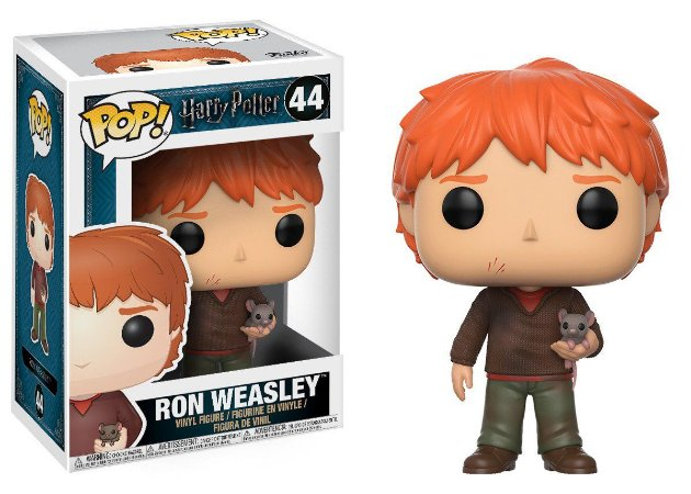 Estatueta Funko Pop! Movies Harry Potter S4 - Ron Weasley W/ Scabbers