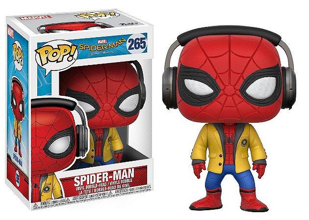 Estatueta Funko Pop! Movies Spiderman Homecoming - Spiderman W/ Headphones