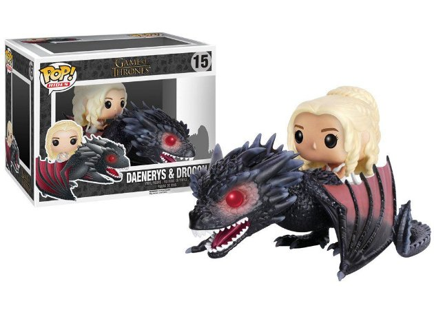 Estatueta Funko Pop! Rides Game Of Thrones - Drogon & Daenerys