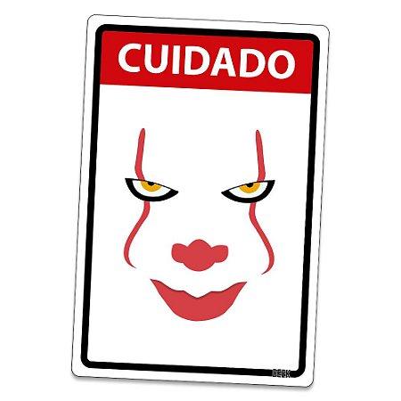 Placa Decorativa 24x16 - CUIDADO PALHAÇO